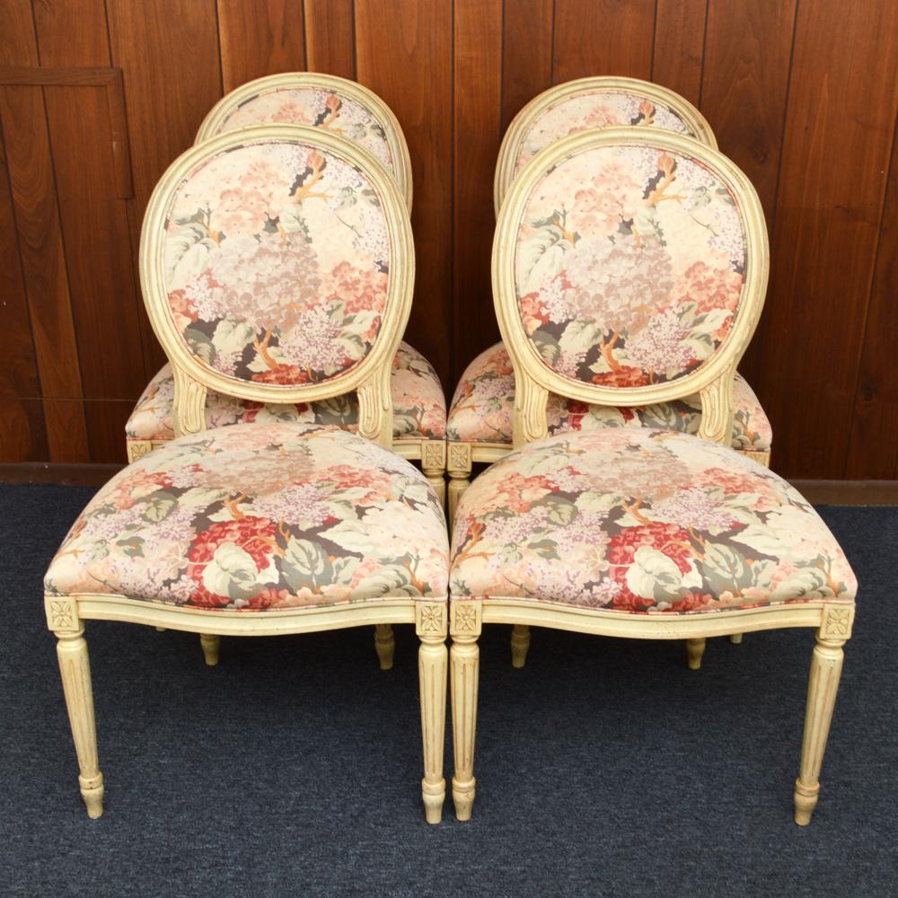 hickory chair louis xvi papasan frame upholstered chairs ebth