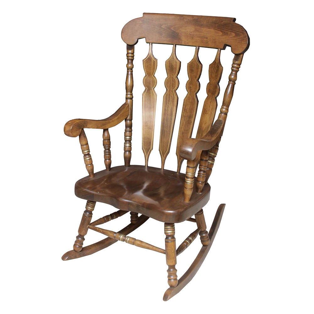 antique wooden rocking chairs sure fit slipcovers chair vintage by shafer commercial seating inc ebth