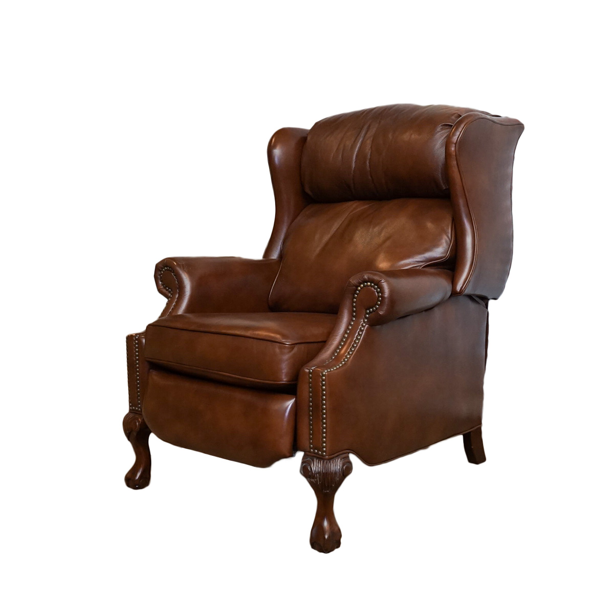 red wingback chair slipcover best high for baby leather recliners perfect collage recliner with