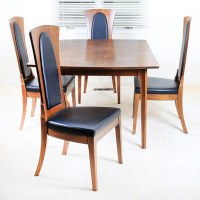 Mid Century Modern Dining Table and Chairs : EBTH