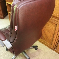 Lane Leather Office Chair Brown Reclining And Stool Dark By Ebth