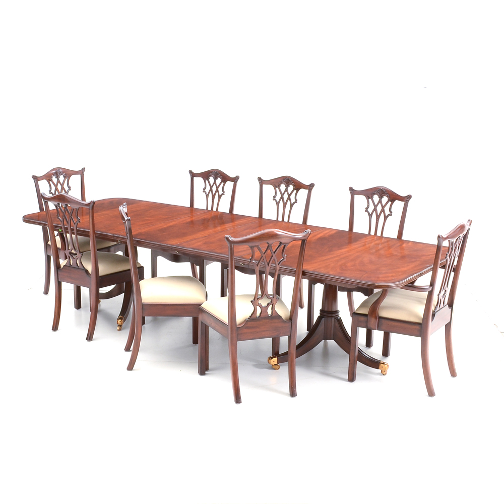 maitland smith dining chairs old metal eight chippendale style with table ebth