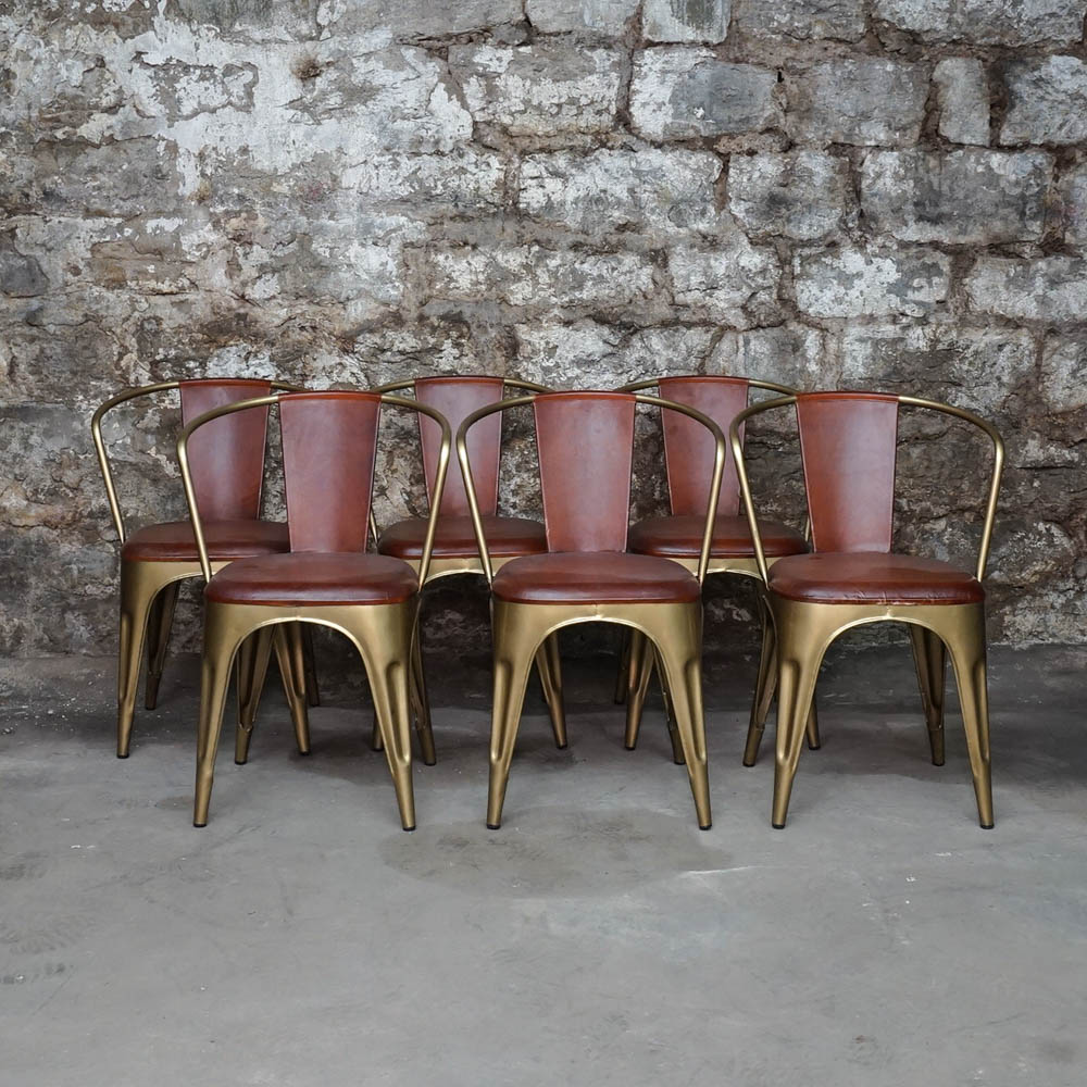 metal tub chairs best chair to use after back surgery leather and brushed gold tone ebth