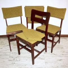 Coronet Folding Chairs Shower Chair Walgreens Set Of Four Mid Century Norquist Wood Ebth