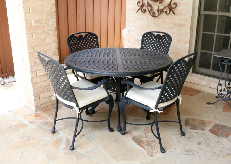 patio table set by smith hawken