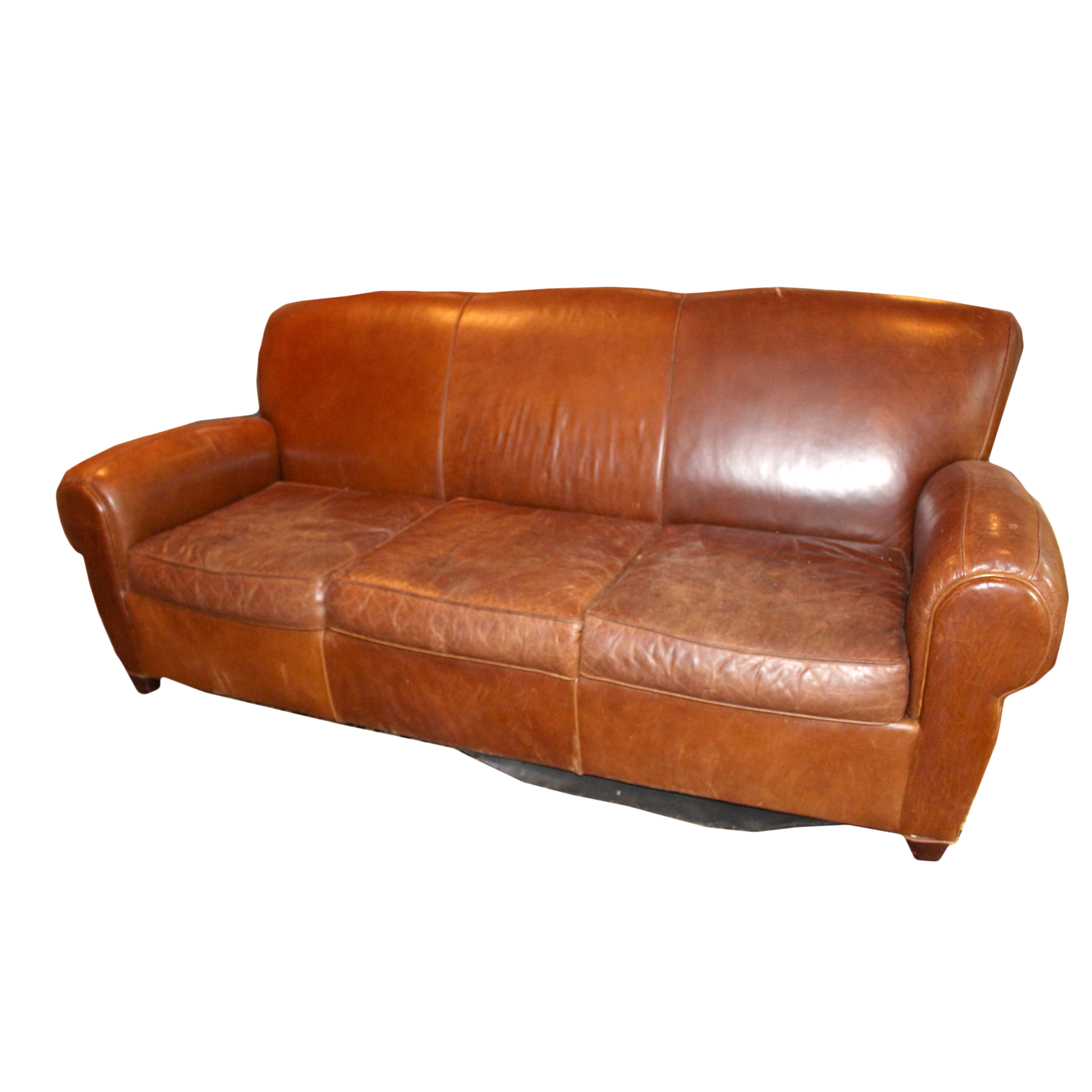 leather sofa like pottery barn houston bed natural by mitchell gold for ebth