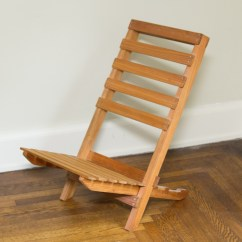 Wooden Frame Beach Chairs High Chair Ikea Collapsible Ebth