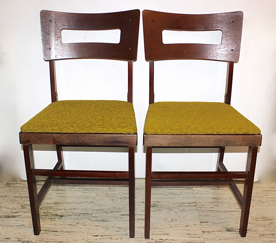 coronet folding chairs leather lounge set of four mid century norquist quotcoronet quot wood