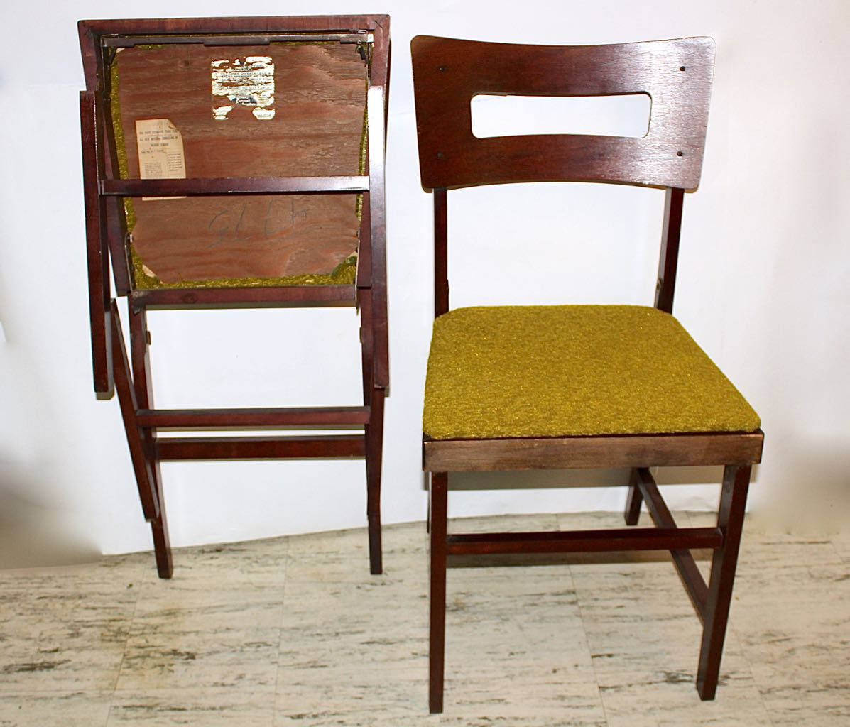 coronet folding chairs eames aluminum group management chair set of four mid century norquist quotcoronet quot wood