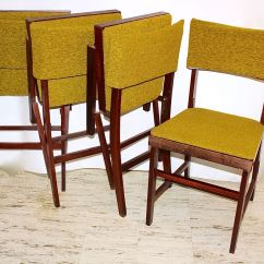 Coronet Folding Chairs Revolving Chair Base Set Of Four Mid Century Norquist Quotcoronet Quot Wood
