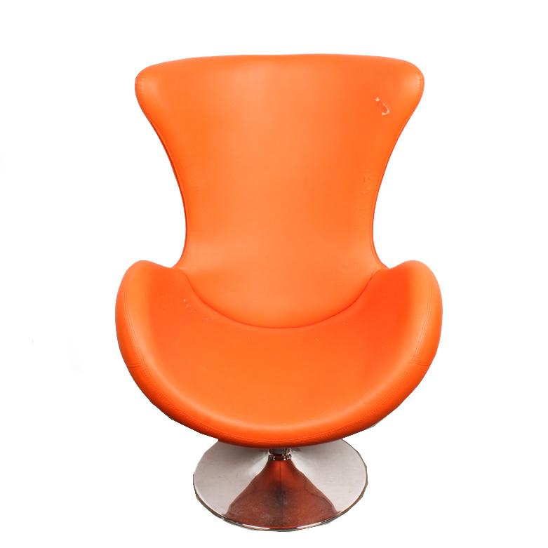 mid century egg chair office and table modern ebth