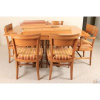 """Mid Century Modern """"The Watertown Slide"""" Dining Table and ..."""