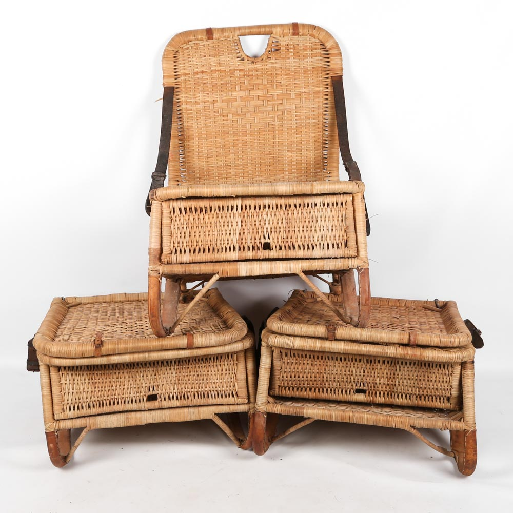 canoe chair wing cover vintage wicker seats ebth