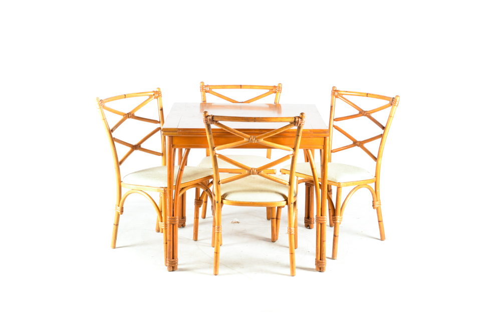heywood wakefield wicker chairs wholesale wedding chair covers discount code vintage rattan and maple game table with ebth