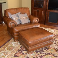 Leather Chair and Ottoman by Thomasville : EBTH