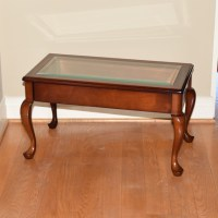 Mahogany and Glass Display Case Coffee Table : EBTH