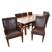 Mission Style Walnut Dining Table With Dining Chairs by ...