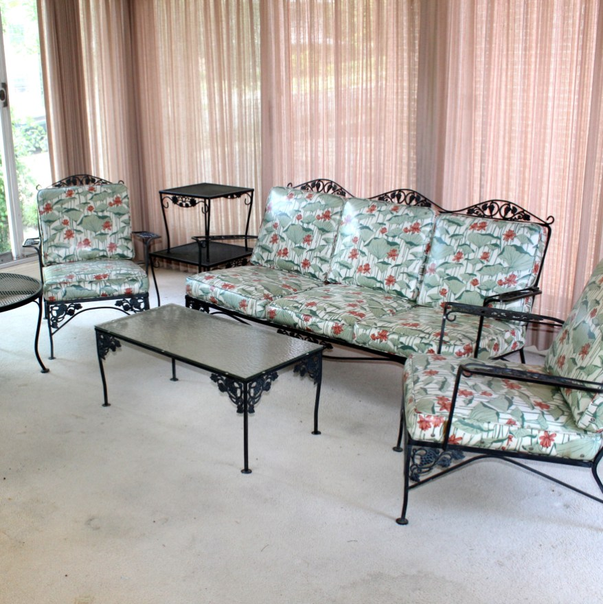 vintage woodard wrought iron patio