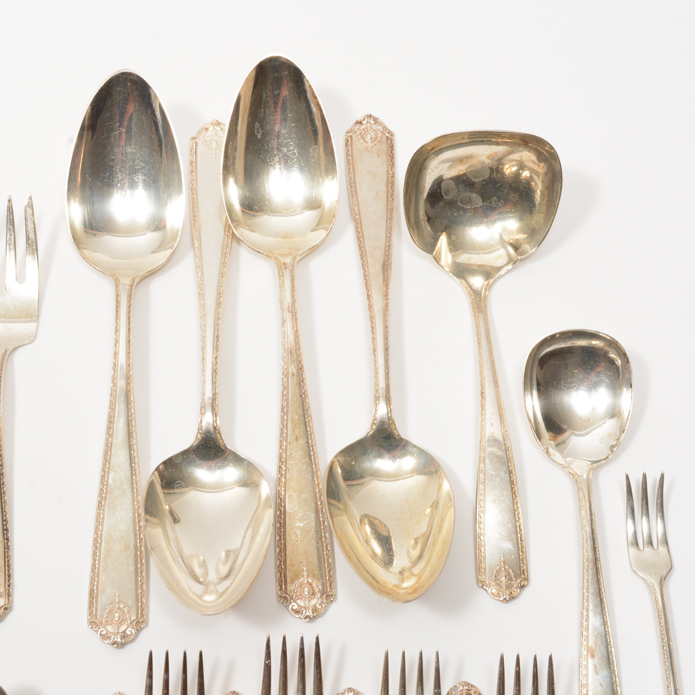 Westmorland Sterling Silver Flatware In The Lady Hilton Pattern EBTH