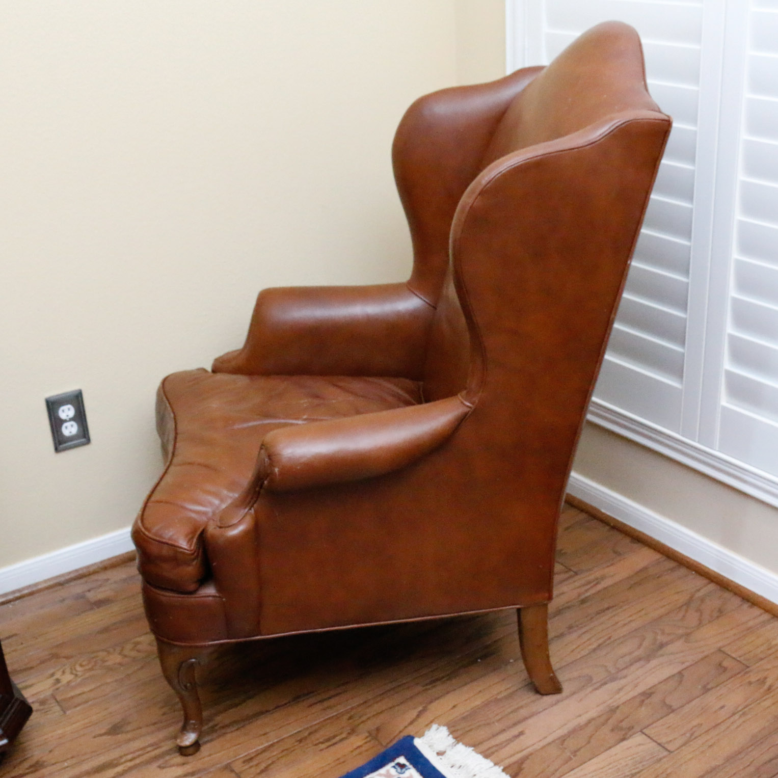 queen anne wingback chair leather best ergonomic chairs 2018 style by drexel heritage