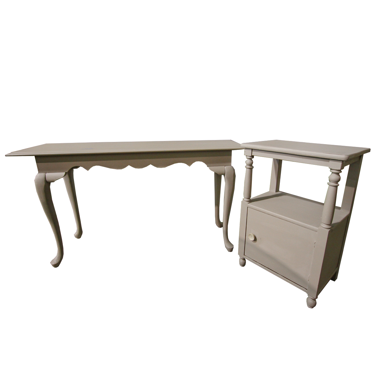 painted queen anne sofa table sectional sofas american furniture warehouse gray style console and side ebth