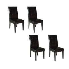 Pier 1 Imports Dining Chairs Ikea Chair Covers Nz Four Bonded Leather By One Ebth