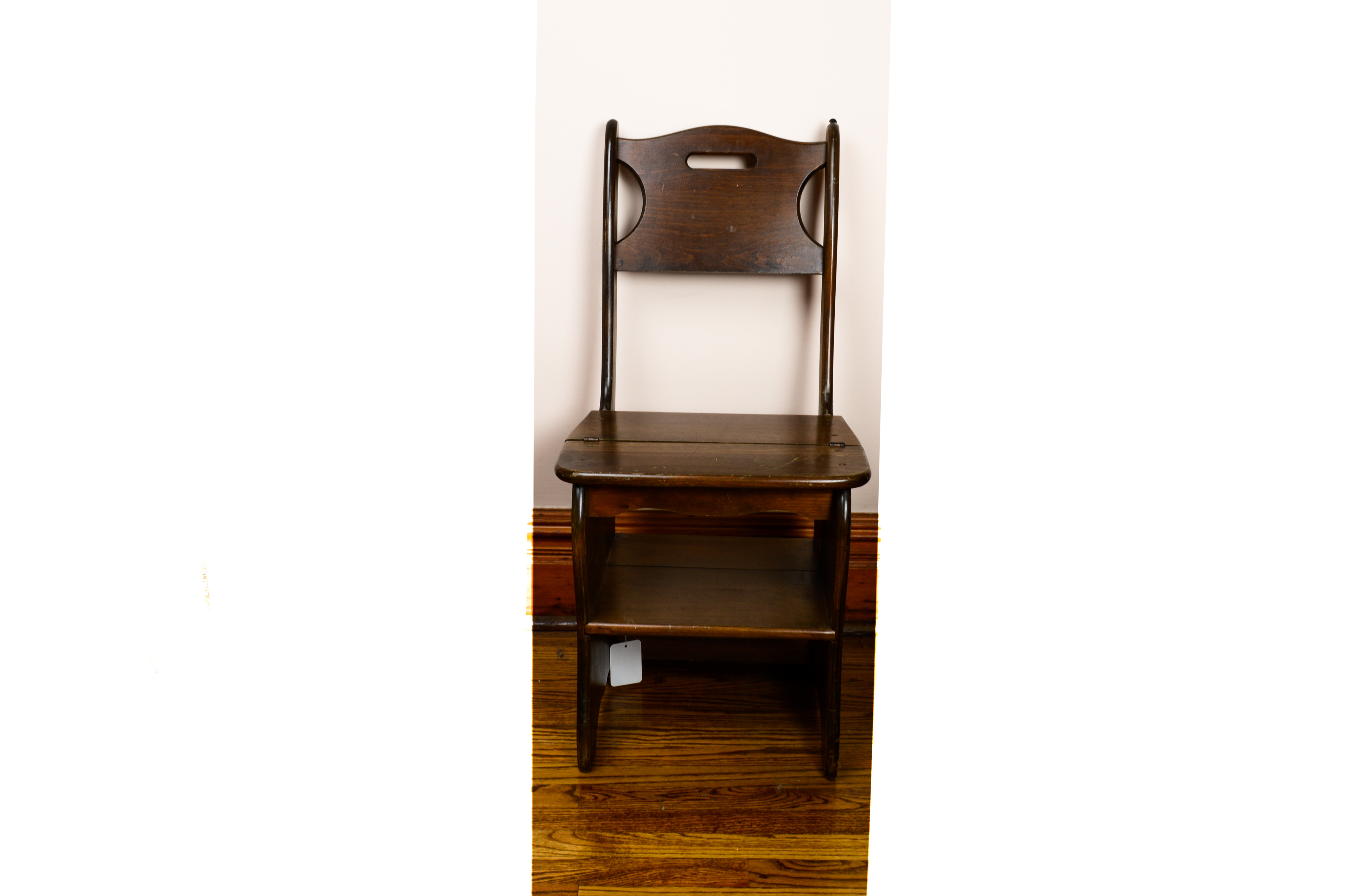 library chair ladder wicker wing back franklin style metamorphic ebth