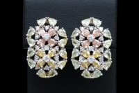 Sterling Silver and Multi-Colored Cubic Zirconia Flower ...