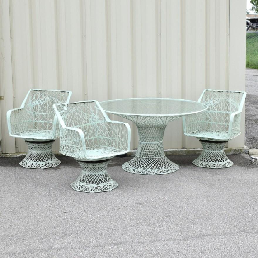 Mid-century Russel Woodard Spun Fiberglass Patio Furniture