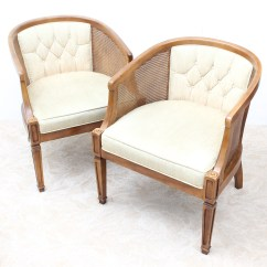 Mid Century Modern Cane Barrel Chairs Eero Aarnio Bubble Chair Upholstered By Chaircraft Ebth