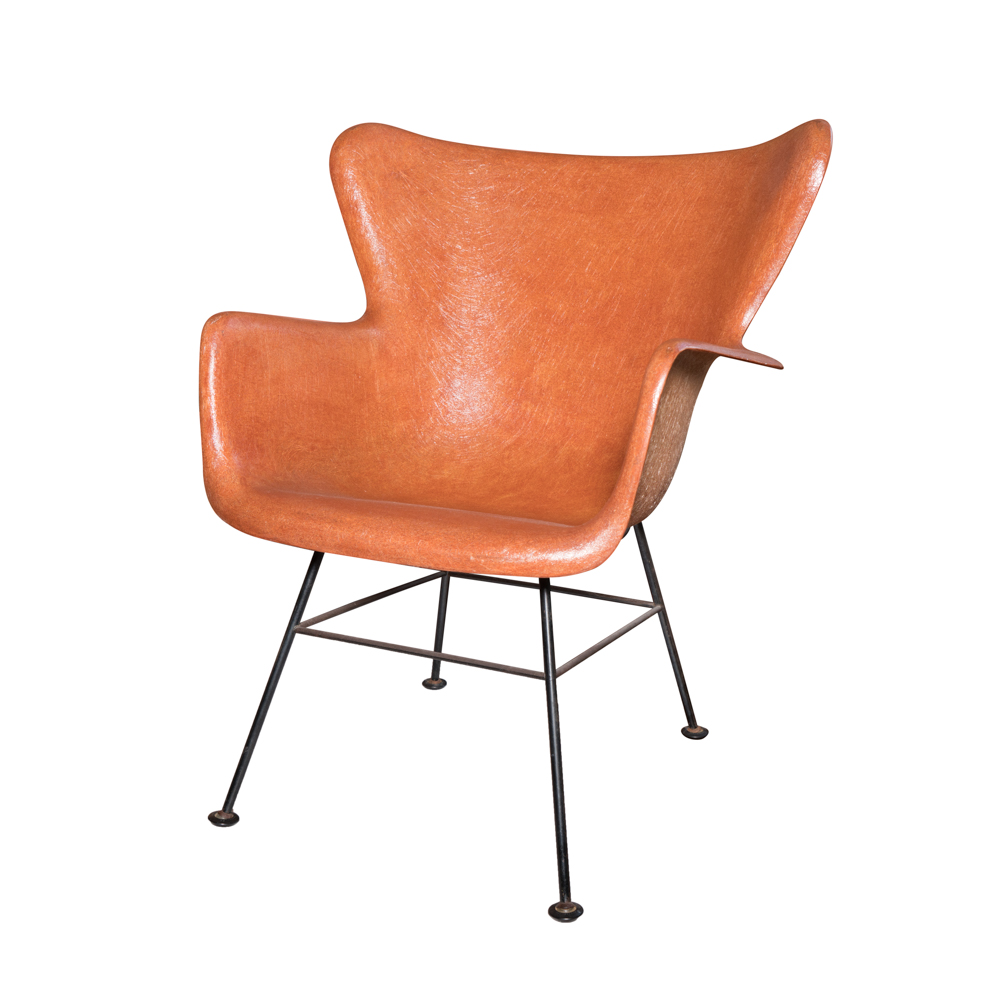 fiberglass shell chair target outdoor lounge cushions mid century modern by lawrence peabody ebth