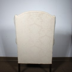 Pembrook Chair Corp Medical Shower With Arms Queen Anne Style Wing And Ottoman By