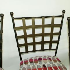 Basket Weave Dining Chairs Chair For Bar Three Wrought Iron Counter Stools Ebth