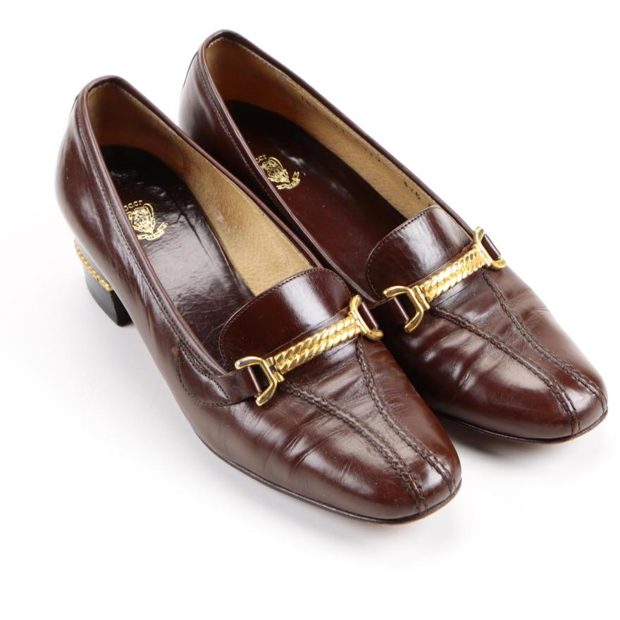 c476a9a7278 Women s Vintage Gucci Heeled Loafers   Ebth