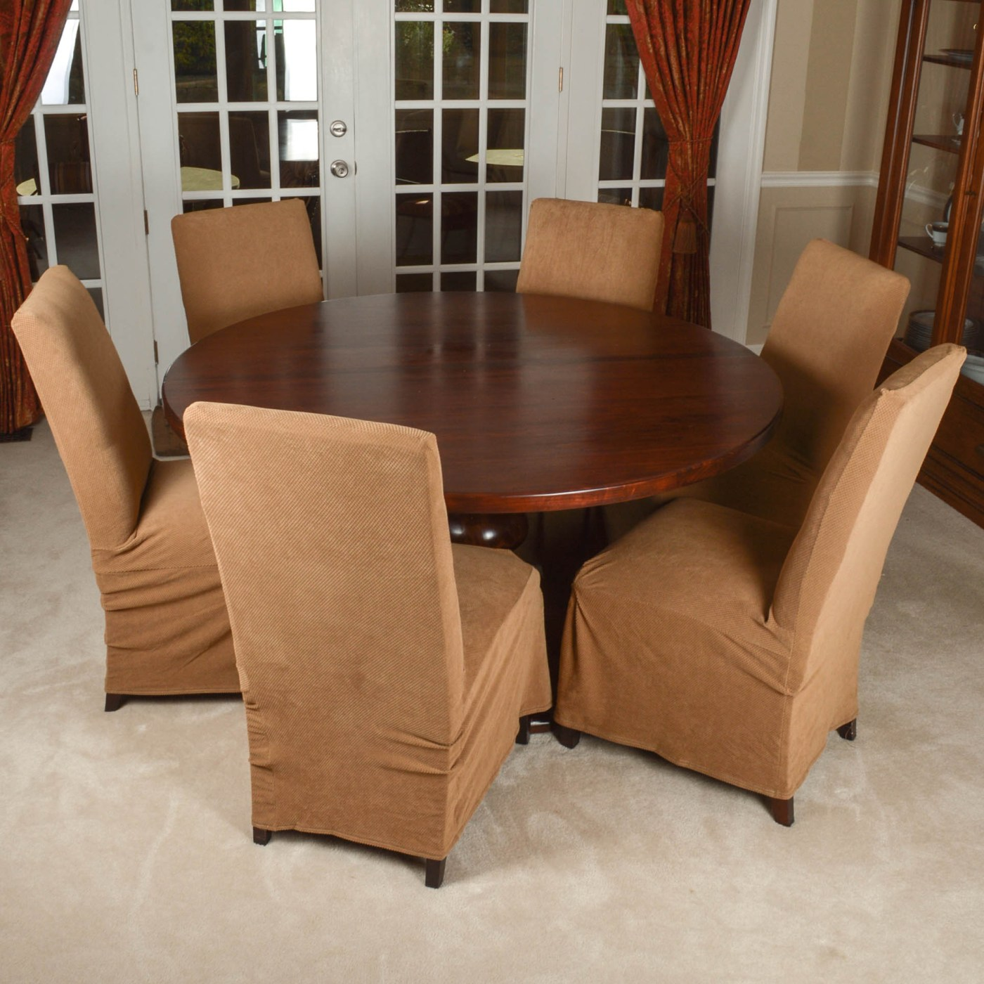 Arhaus Dining Chairs Arhaus Furniture Quottuscany Quot Dining Table And Six Parsons