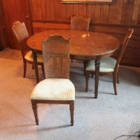 Vintage Broyhill Federal Style Dining Table and Chairs : EBTH