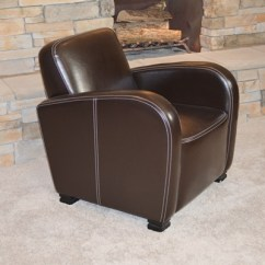 Bernhardt Brown Leather Club Chair Swing Seat Kit Ebth