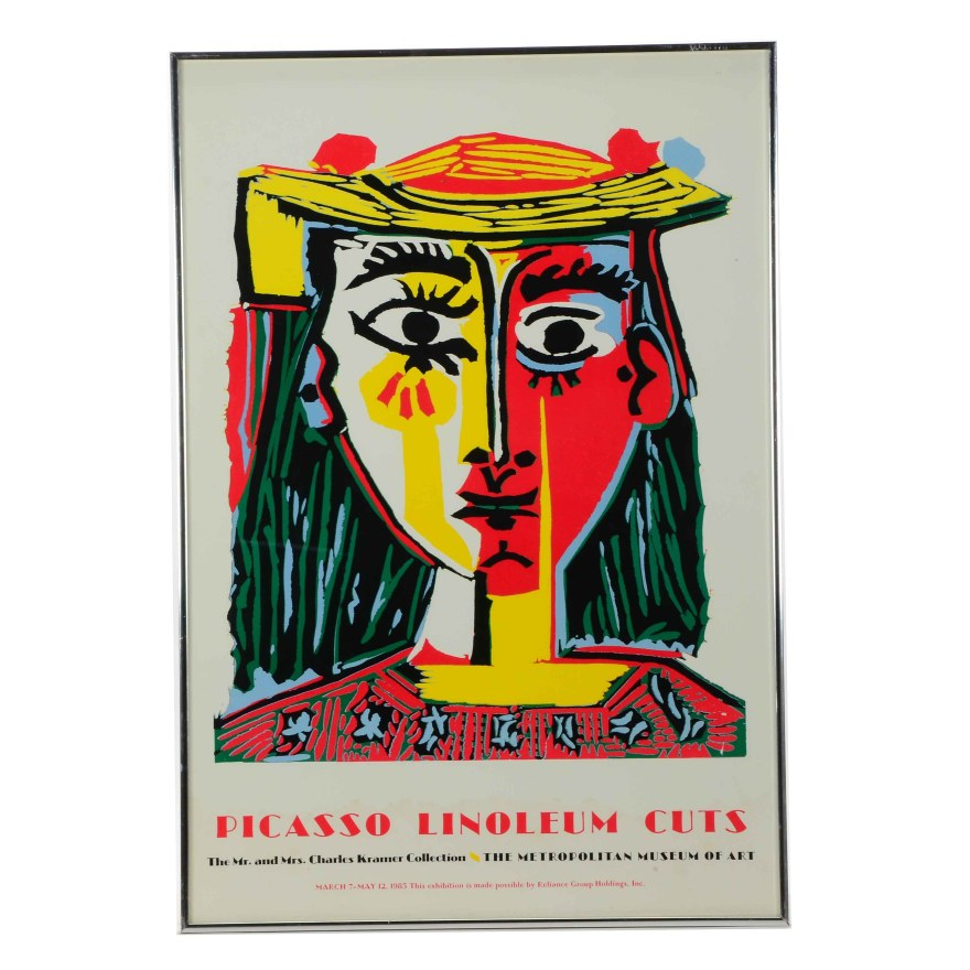 "Exhibition Poster ""picasso Linoleum Cuts"""