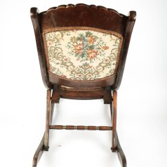 Antique Victorian Folding Rocking Chair Outdoor Covers Adelaide Ebth