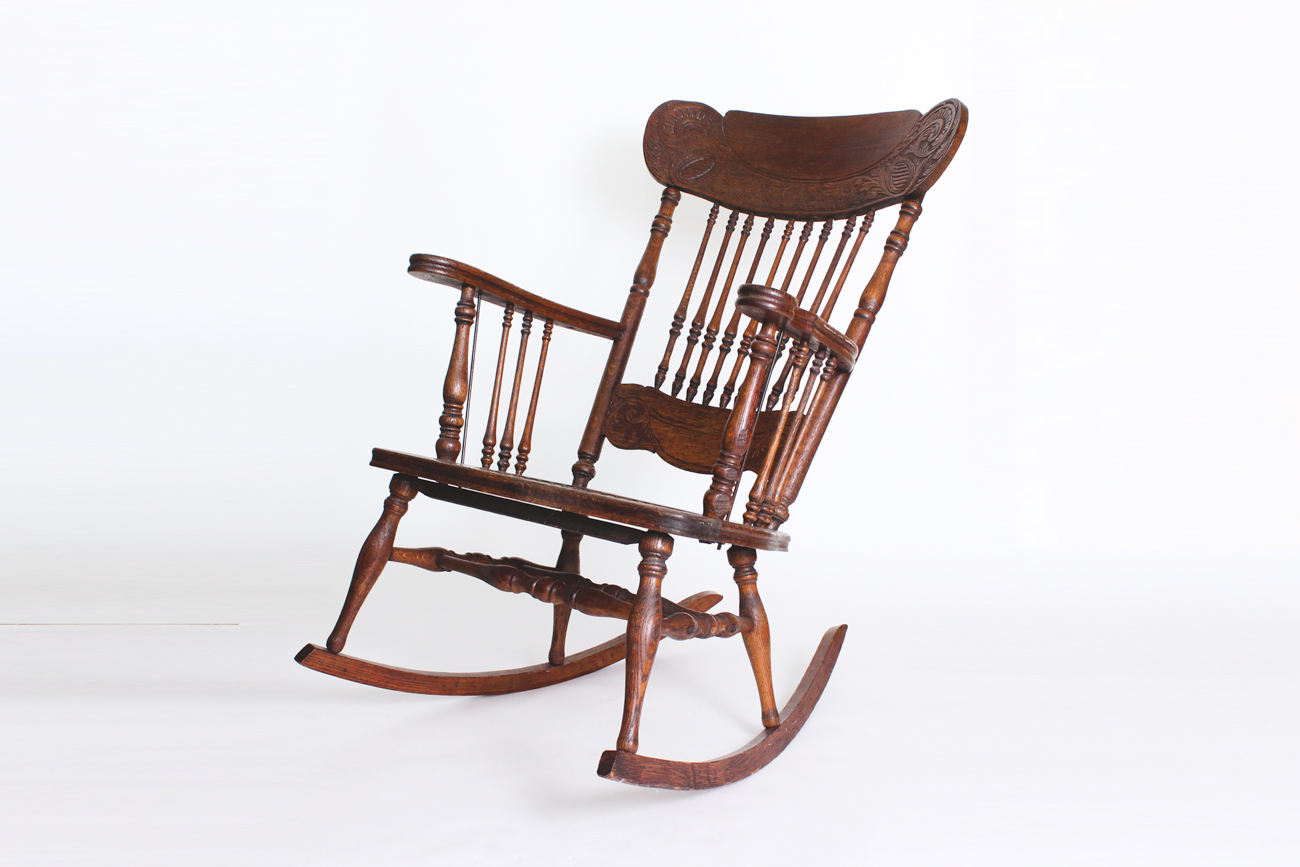 antique wooden rocking chairs serta office chair ebth