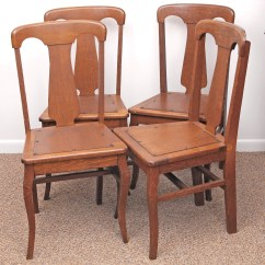 Vintage Oak Dining Chairs Danish Ebth
