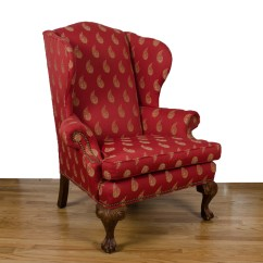 Ethan Allen Wingback Chairs Dining Uk Chippendale Style Upholstered Chair By Ebth