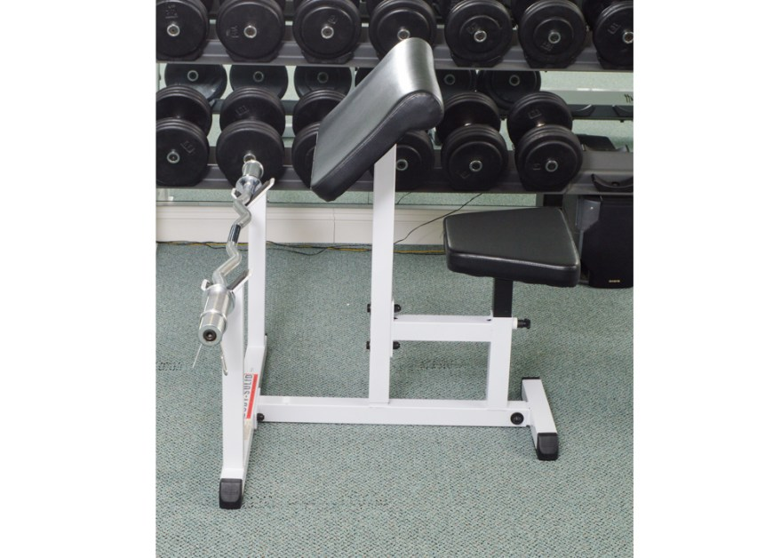 Body Solid Preacher Curl With Bar Bell Ebth