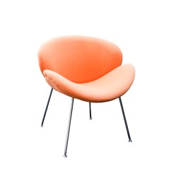 Orange Slice Chair Childrens Wooden With Arms Mid Century Modern Style After Pierre Paulin For Artifort Ebth