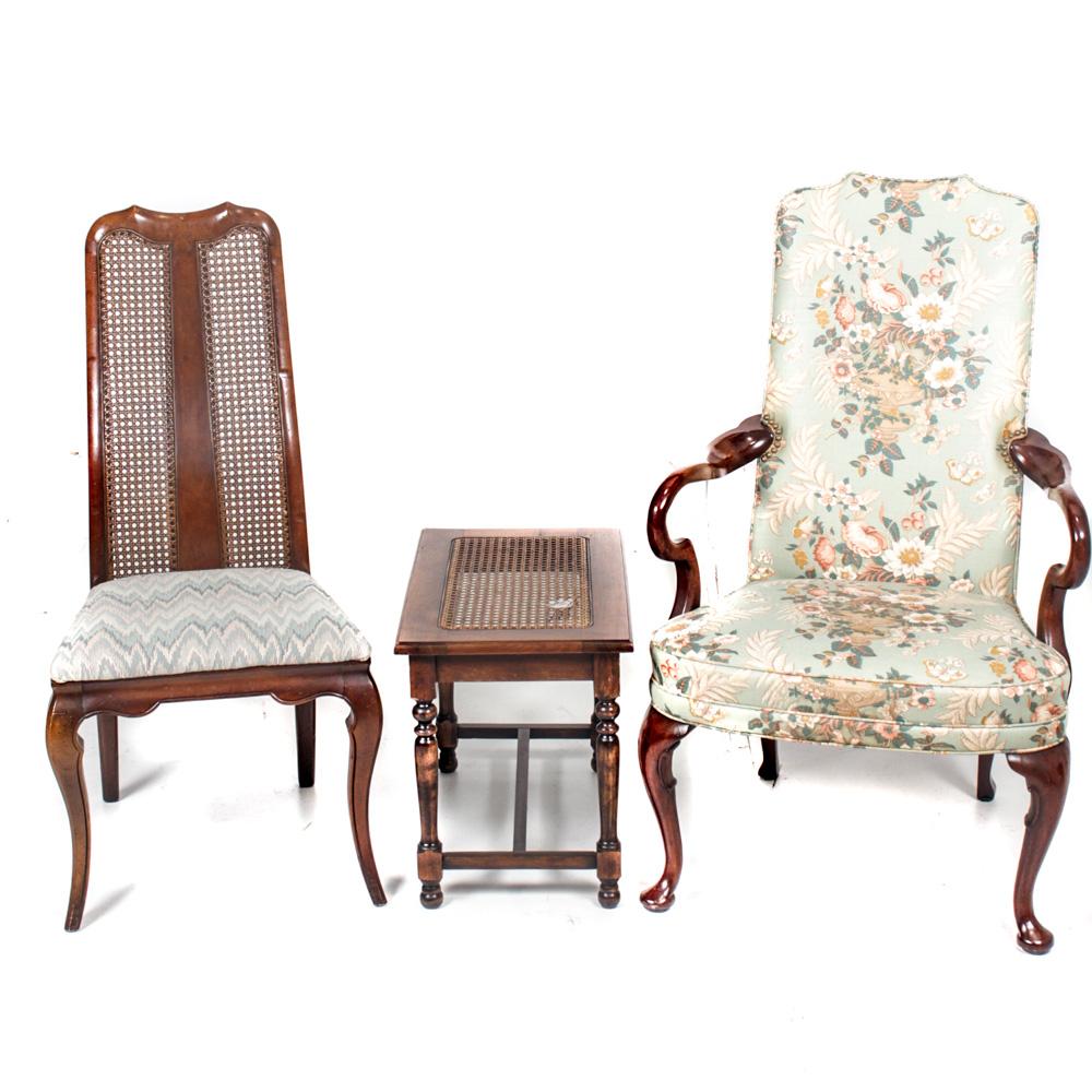 tall back chairs 7 ft bean bag chair pair of vintage ebth