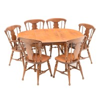 Mid-Century Heywood Wakefield Drop-Leaf Table and Chairs ...