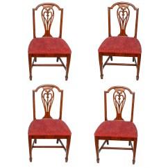 Federal Dining Chairs Office Paramus Nj Four Style Walnut Ebth