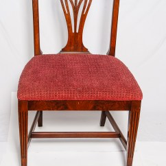 Federal Dining Chairs 2 Chair Table Four Style Walnut Ebth