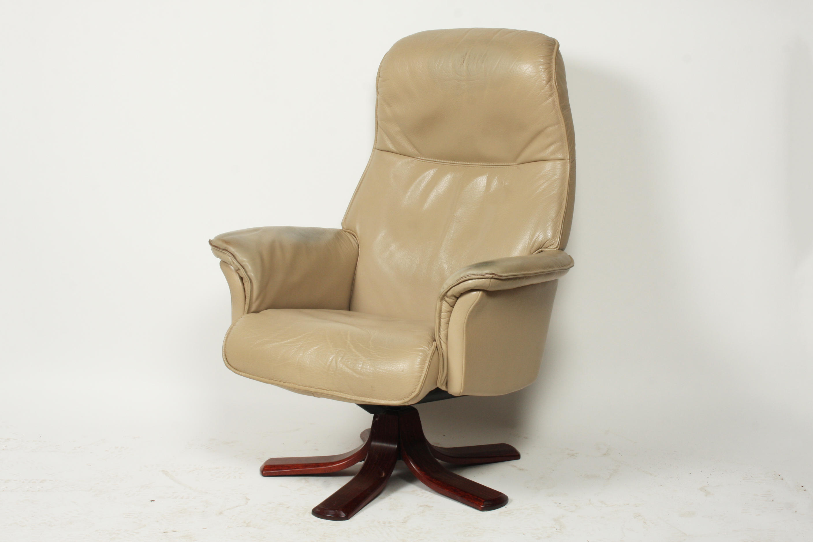 modern leather recliner swivel chair slip covers for chairs mid century swedish reclining ebth