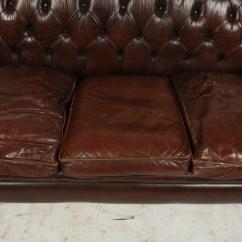 Kingcome Sofa Sale Brown Leather Nailhead 1920s English Chesterfield Ebth